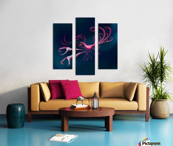 Aragosta Rosa Canvas print