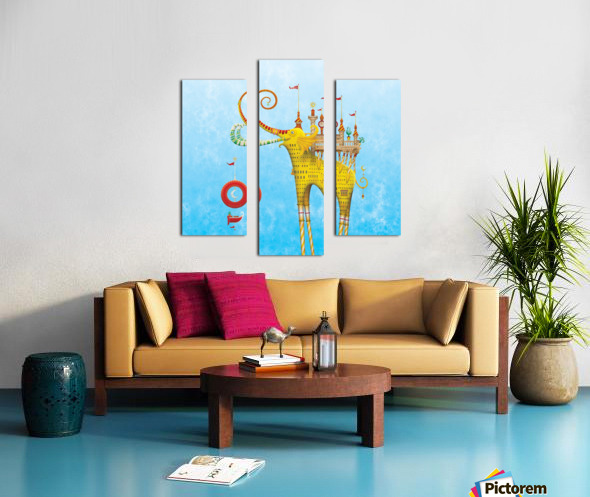 Castellini Elephantini Dorado Canvas print