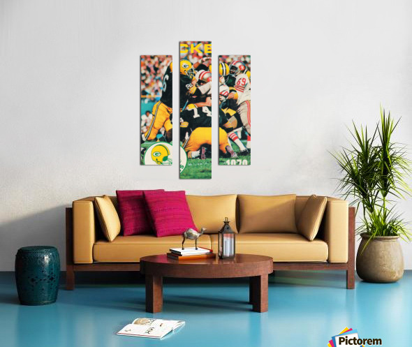 Green Bay Packers Football Poster Row One Brand Sports Art Canvas print