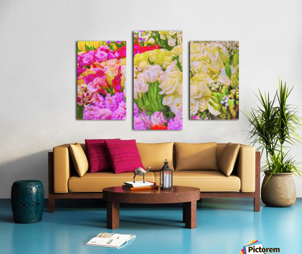 Abstract colorful flowers Canvas print