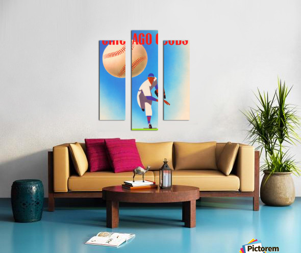 Otis Shepard Remix_Public Domain Sports Art Remixes_Chicago Cubs Poster by Row One Canvas print