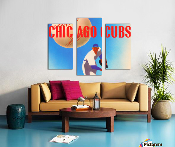 Sports Art Remixes_Public Domain Sports Art Creations_Chicago Cubs Poster (1950) Canvas print