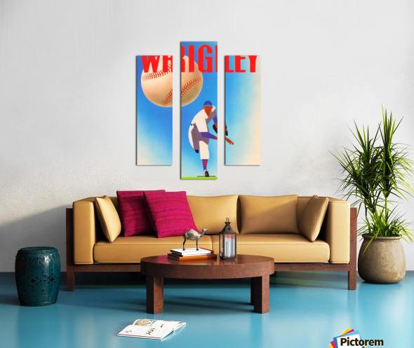 RowOneBrandSportsArtRemixes_PublicDomainSportsArtRemix_ChicagoCubsWrigleyPoster Canvas print