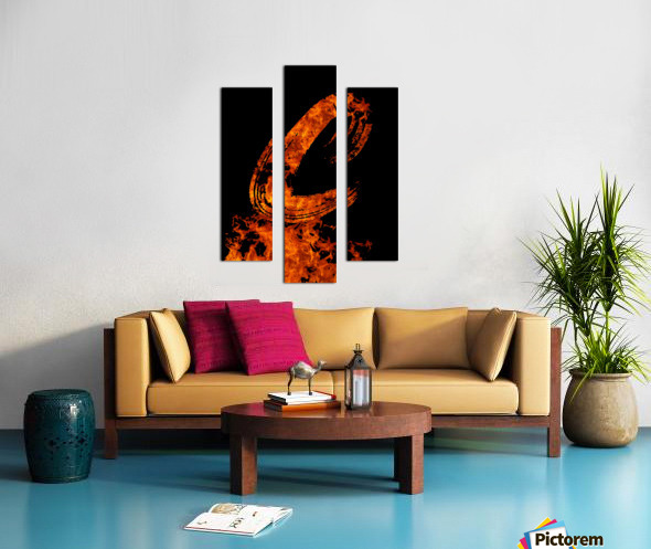 Burning on Fire Letter C Canvas print