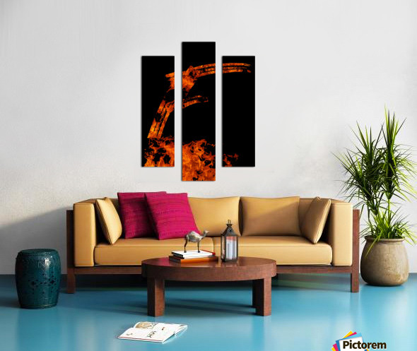 Burning on Fire Letter F Canvas print