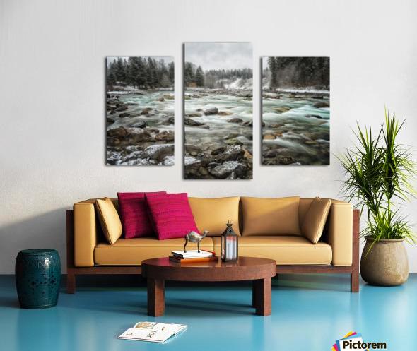 River in Winter Canvas print