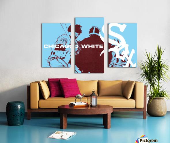 ChicagoWhiteSoxPoster_CheapBaseballPosters_UniqueChicagoGiftIdeas Canvas print