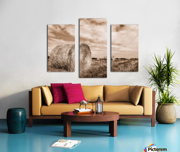 Le temps des foins Canvas print