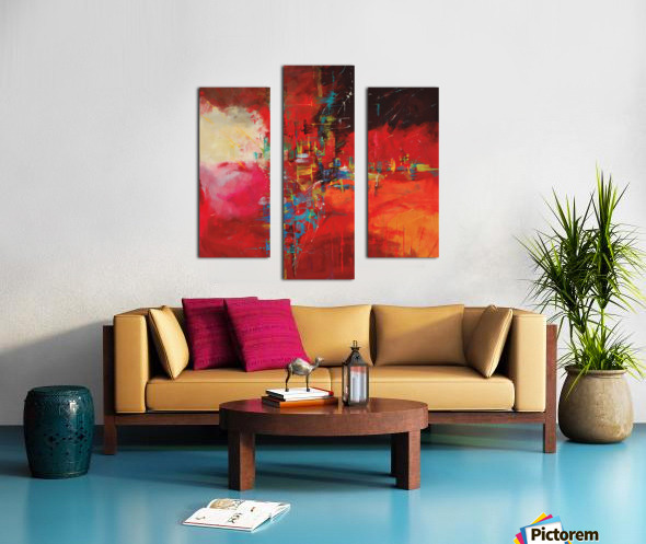 CASCADA ROJA Canvas print