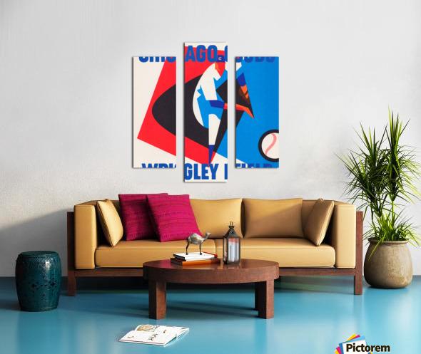Retro_Remix_Sports_Program_Scorecard_Posters_Row_One_Chicago_Cubs Canvas print