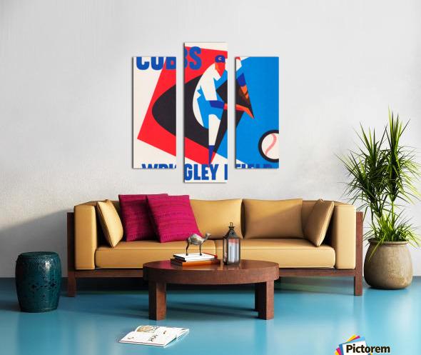 Cubs Wrigley Field Art Canvas print