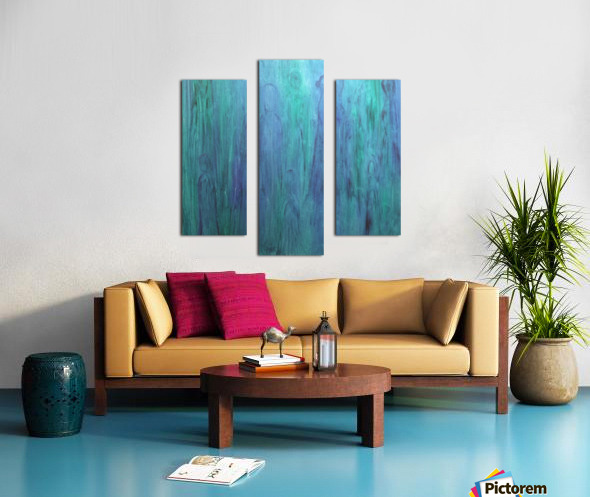 Aqua Real Canvas print
