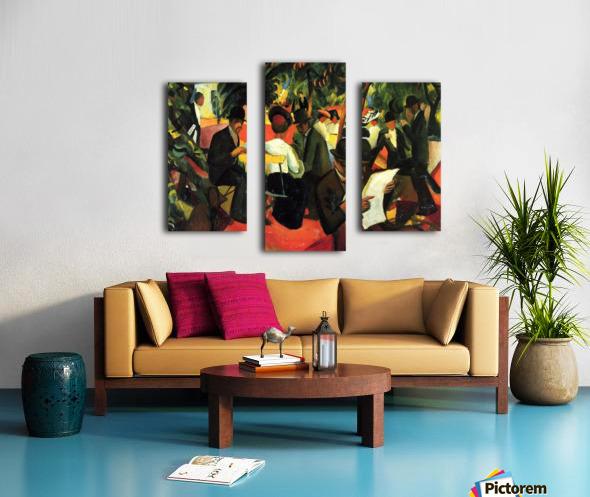 Garden Restaurant by Macke Impression sur toile