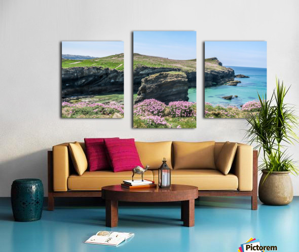 View of sea and rocks Canvas print