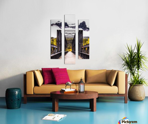 The Engine Bridge Canmore Canvas print