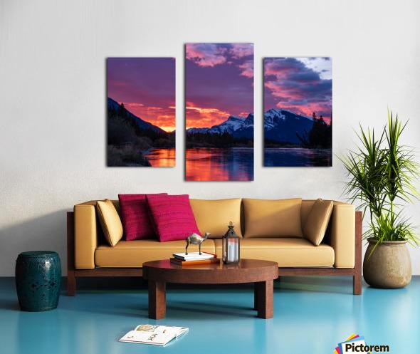 Bow River Sunrise East Canvas print
