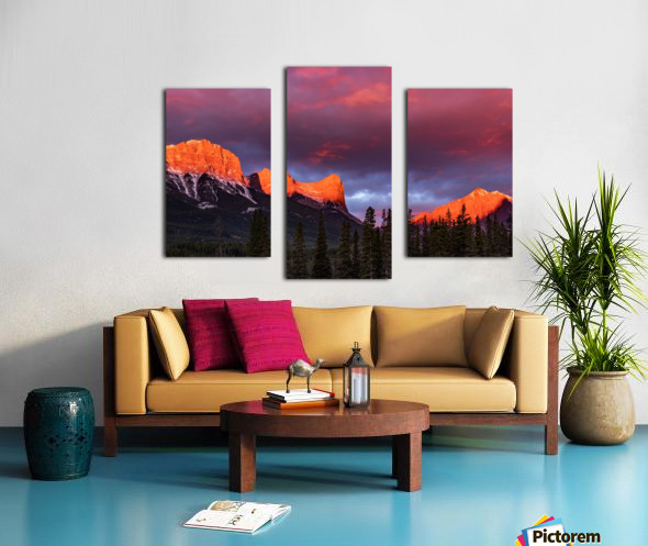 Ha Ling Mountain Range Sunrise Canvas print