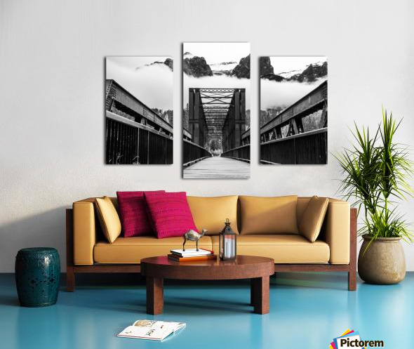Canmore Iconic Engine Bridge Canvas print