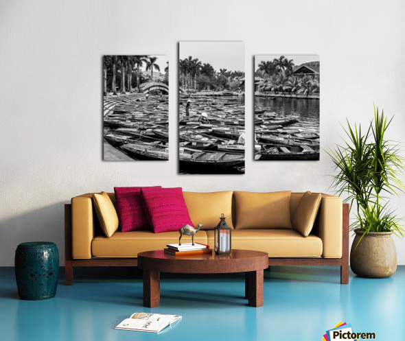 Boats in the river of Vietnam Canvas print