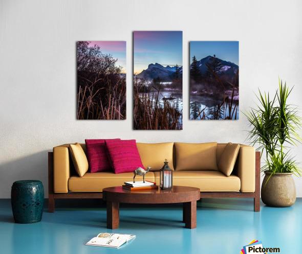 Vermilion Lakes Mist Canvas print