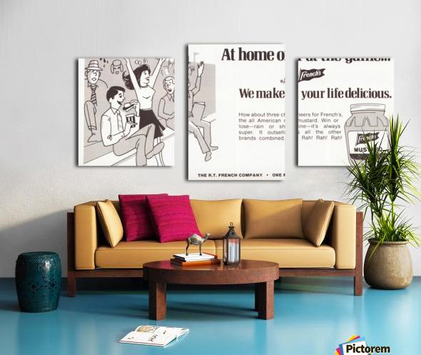 vintage frenchs mustard ad retro food advertisements poster print metal sign wood art Canvas print
