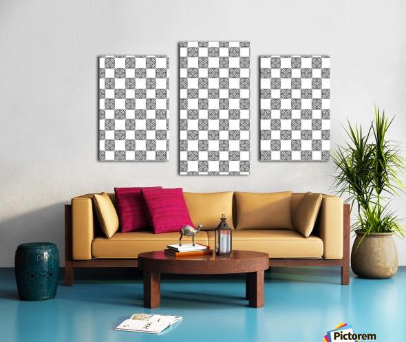 seamlesstilederivativepattern Canvas print