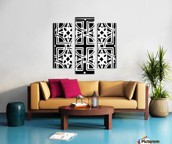 Blackandwhitegeometricgeometrypattern Canvas print