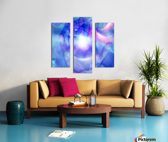 Human Eye and Palm Canvas print