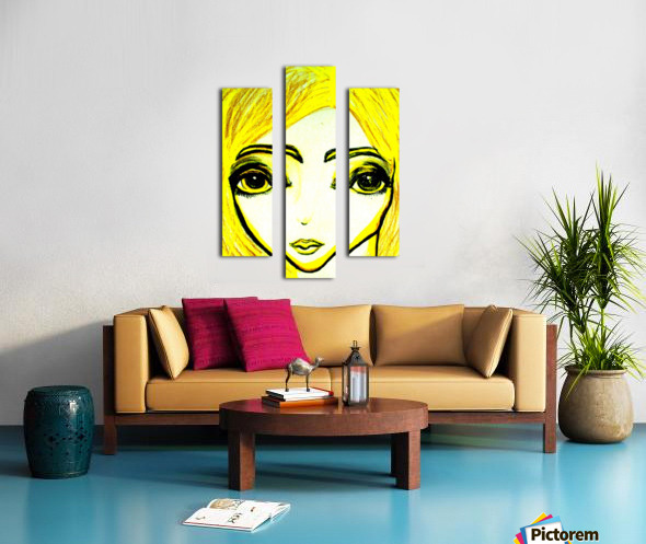 yellowgirl1 Canvas print