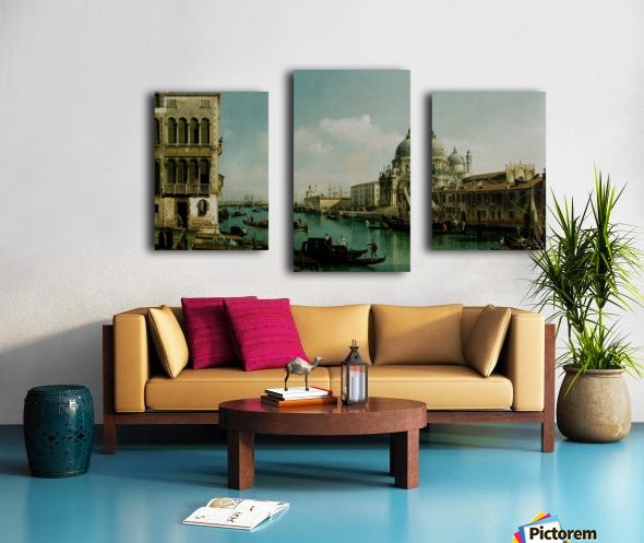 View of the Grand Canal and the Dogana Canvas print