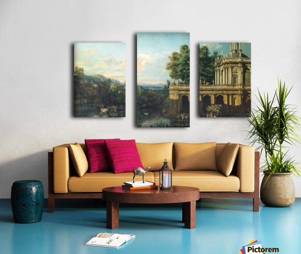 Architectural Caprice with a Palace Canvas print