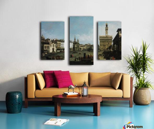 The Piazza della Signoria in Florence Canvas print