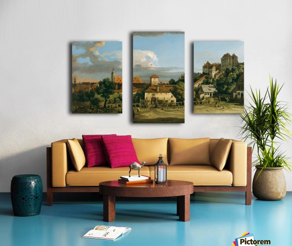 Pirna - The Obertor from the South Canvas print