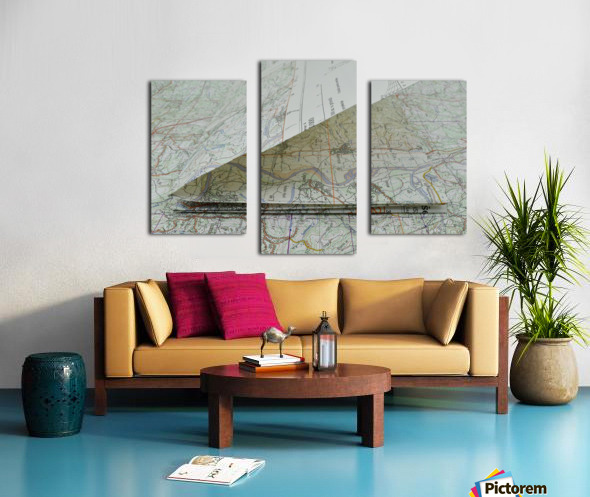 map navigation orientation drawing geography Canvas print
