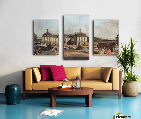 The imperial summer residence, courtyard Canvas print