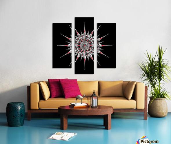 Starfish Fusion Mandala Canvas print