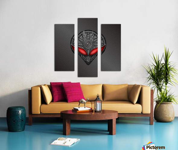 Altered Carbon Red Eye Reactor Canvas print