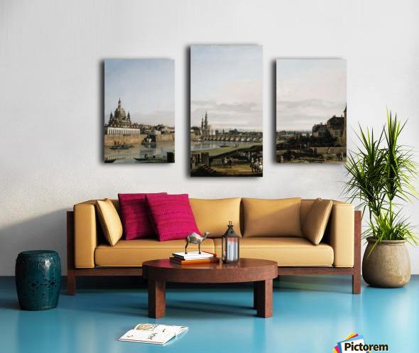 Dresden vom rechten Elbufer Canvas print