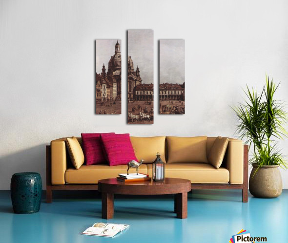 Der Neumarkt in Dresden Canvas print