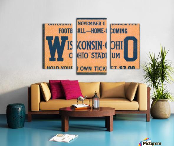 ticket stub metal sign osu buckeyes football vintage tickets wood prints Canvas print