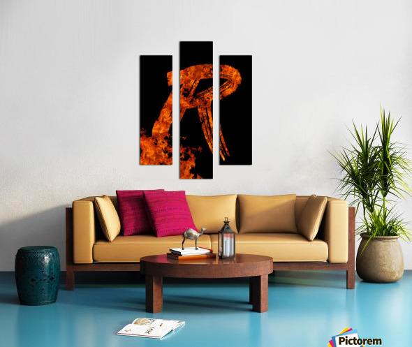 Burning on Fire Letter R Canvas print