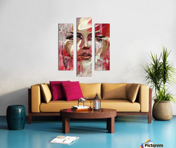 SENTIDOS DE MUJER Canvas print