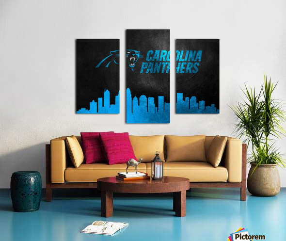Carolina Panthers Skyline Canvas print