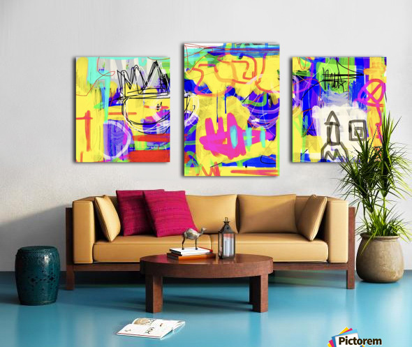 Spaces Canvas print