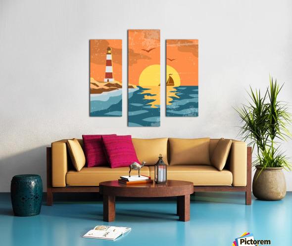 sea retro poster Canvas print