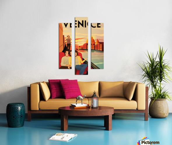 venice travel poster Canvas print