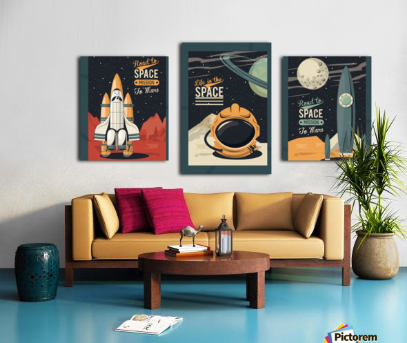 Life space poster with set scenes Canvas print