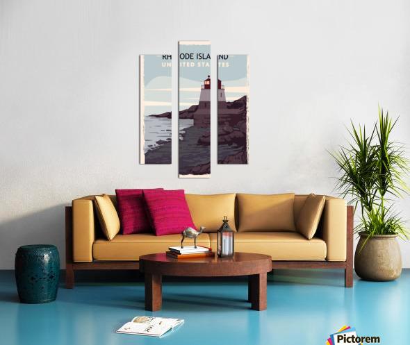 Rhode island retro poster usa rhode island travel illustration united states america Canvas print