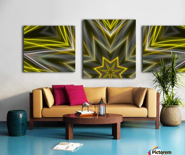 Yellow Neon Lights  Canvas print