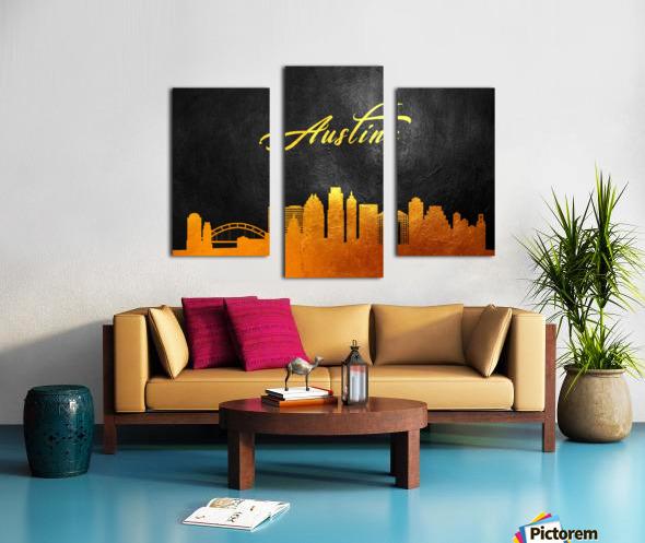 Austin Texas Skyline Wall Art Canvas print